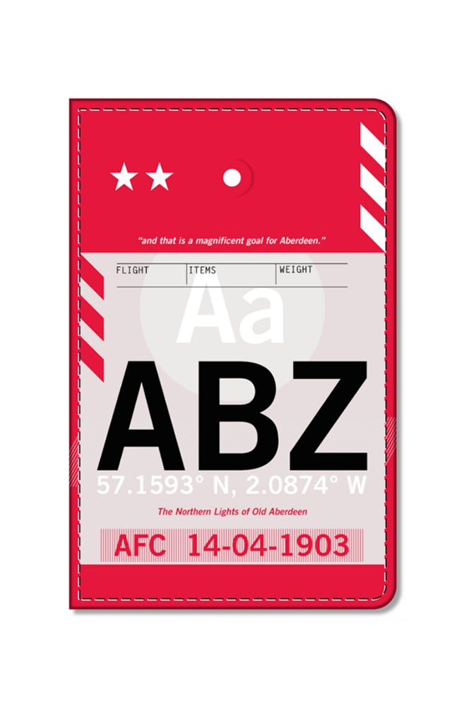 Image of Aberdeen FC - ABZ Flight Tag Passport Holder