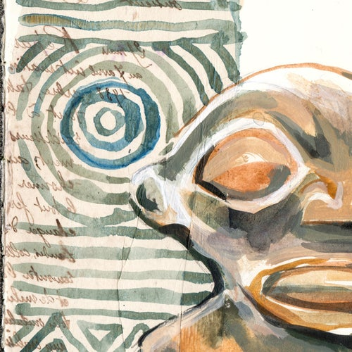 "Image of Paper Art Print - ""Tikis"""