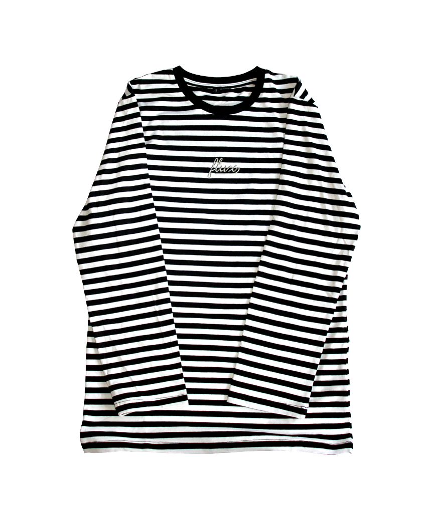 Image of Striped Longsleeve T-Shirt - Black