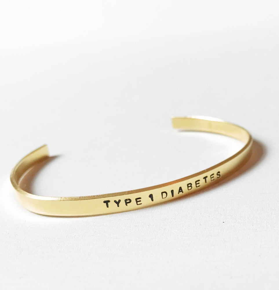 Image of Type 1 Diabetes Bracelet Brass