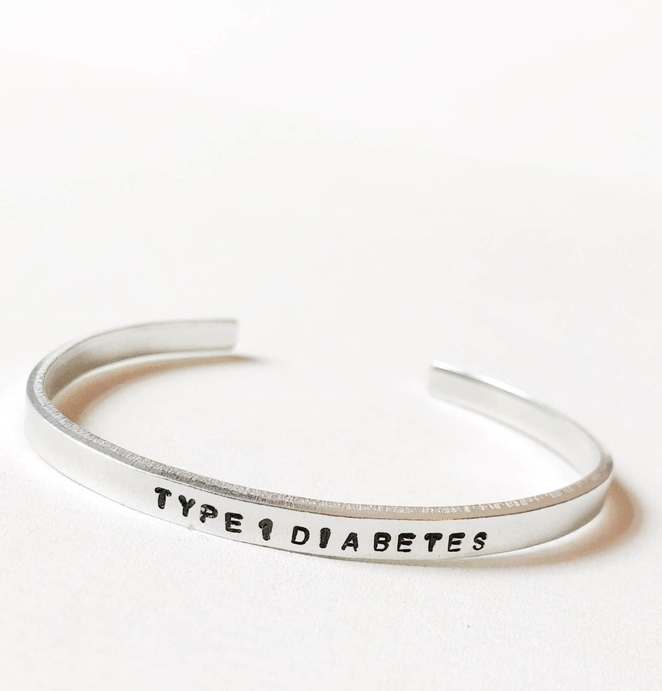 Image of Type 1 Diabetes Bracelet Aluminium