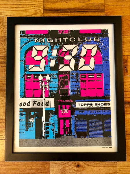 Image of Nightclub 9:30 Silk Screened Art Print