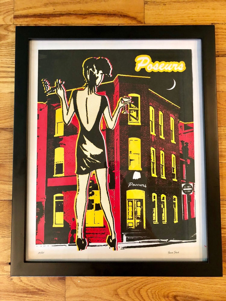 Image of Poseurs Silk Screened Art Print