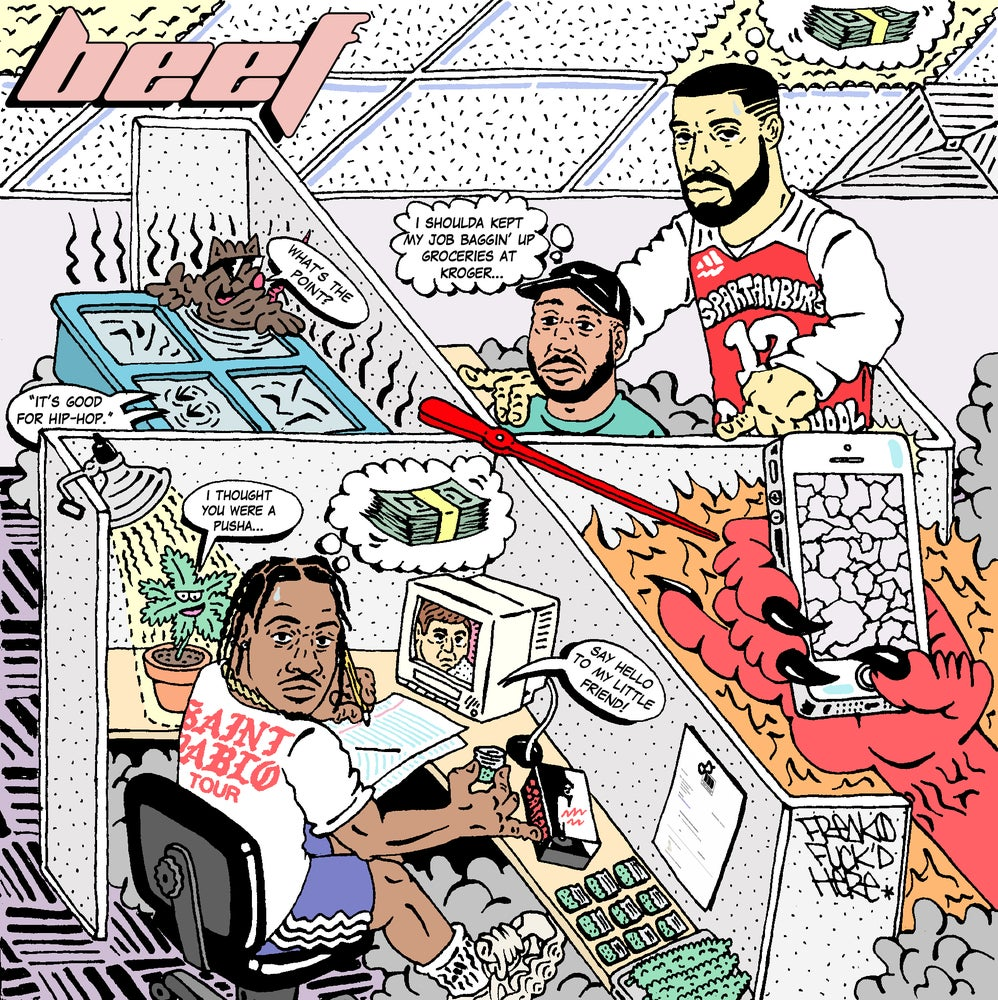 "Image of ""BEEF: IT'S GOOD FOR HIP-HOP"" PRINT"