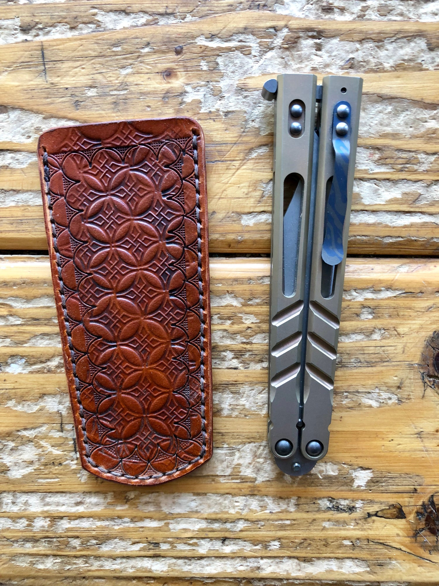 "Image of ""Loki's Sheath"" Balisong Sheath/Pocket Slip"