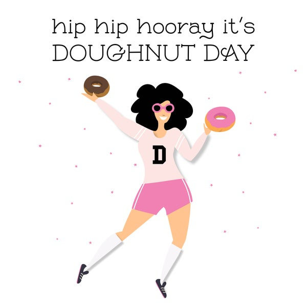 Image of It's Doughtnut Day Notecard
