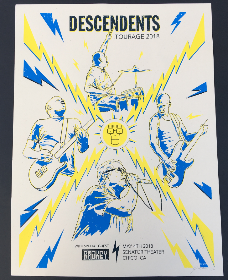 Image of Descendents Tour Poster 2018 (Limited Edition)