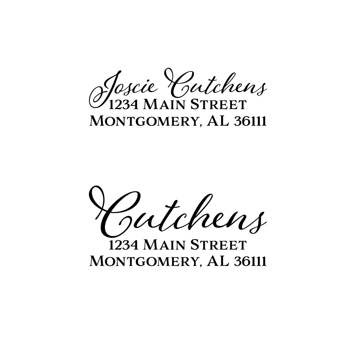 Image of Modern Flourish Address Stamp