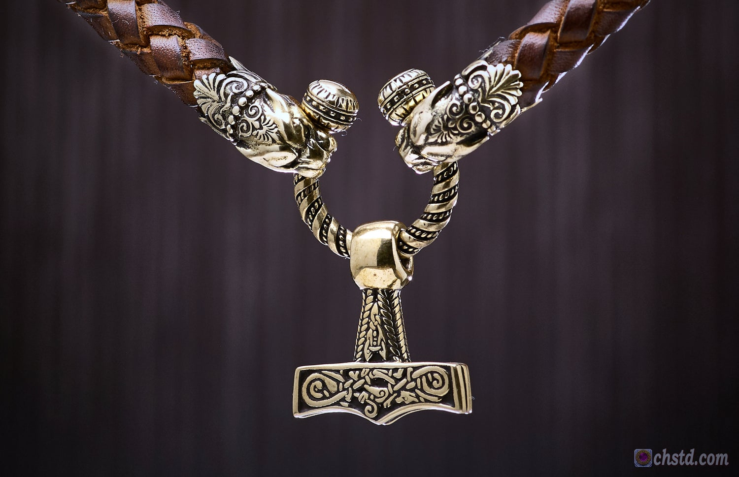 Image of Thor's Hammer : Mjolnir - Leather Necklace
