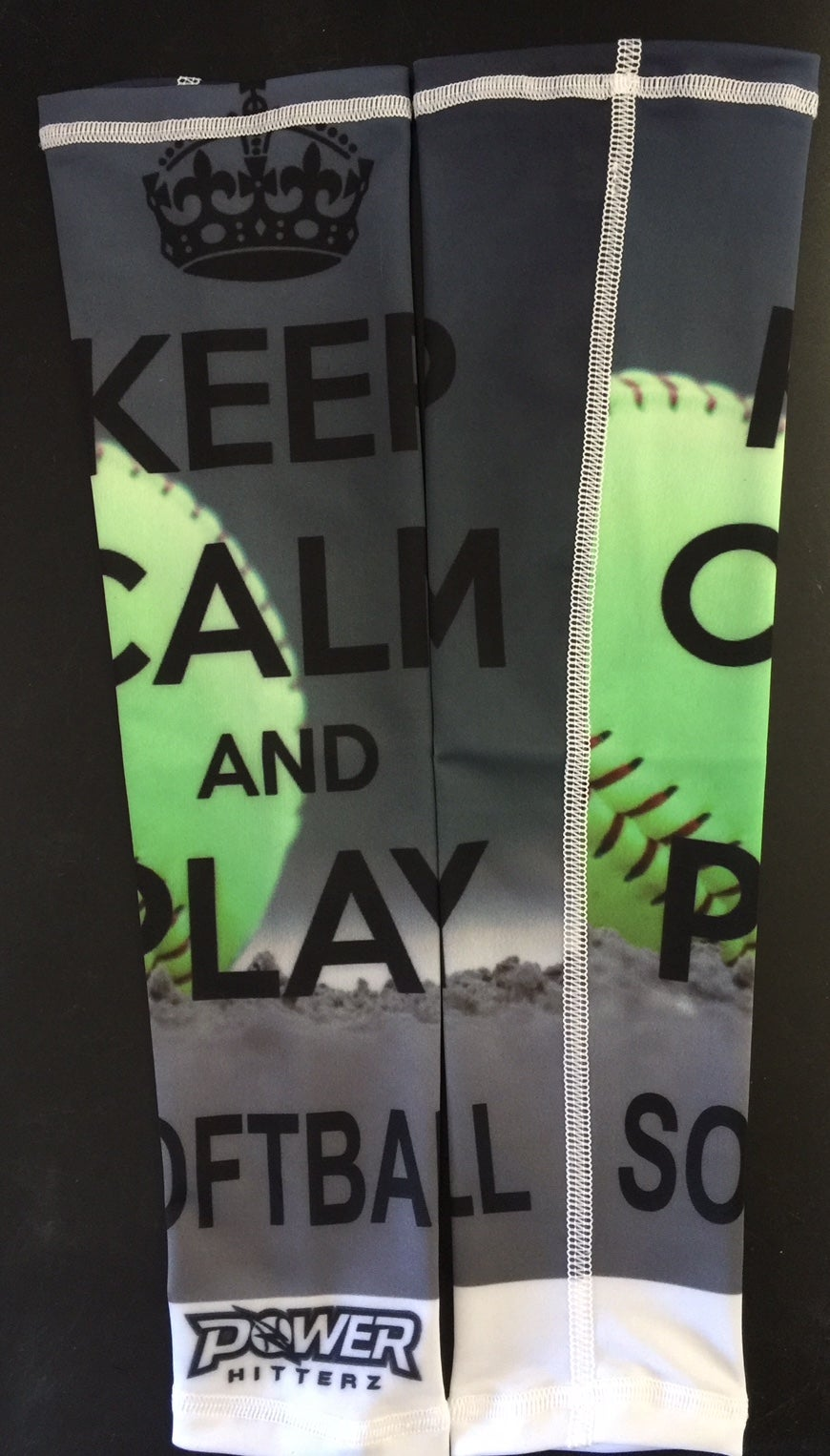 Image of Keep Calm and Play Softball Custom Arm Sleeve