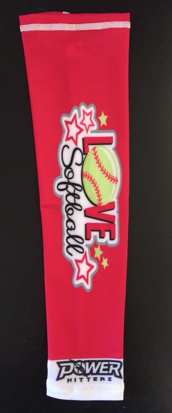 Image of I Love Softball Custom Arm Sleeve