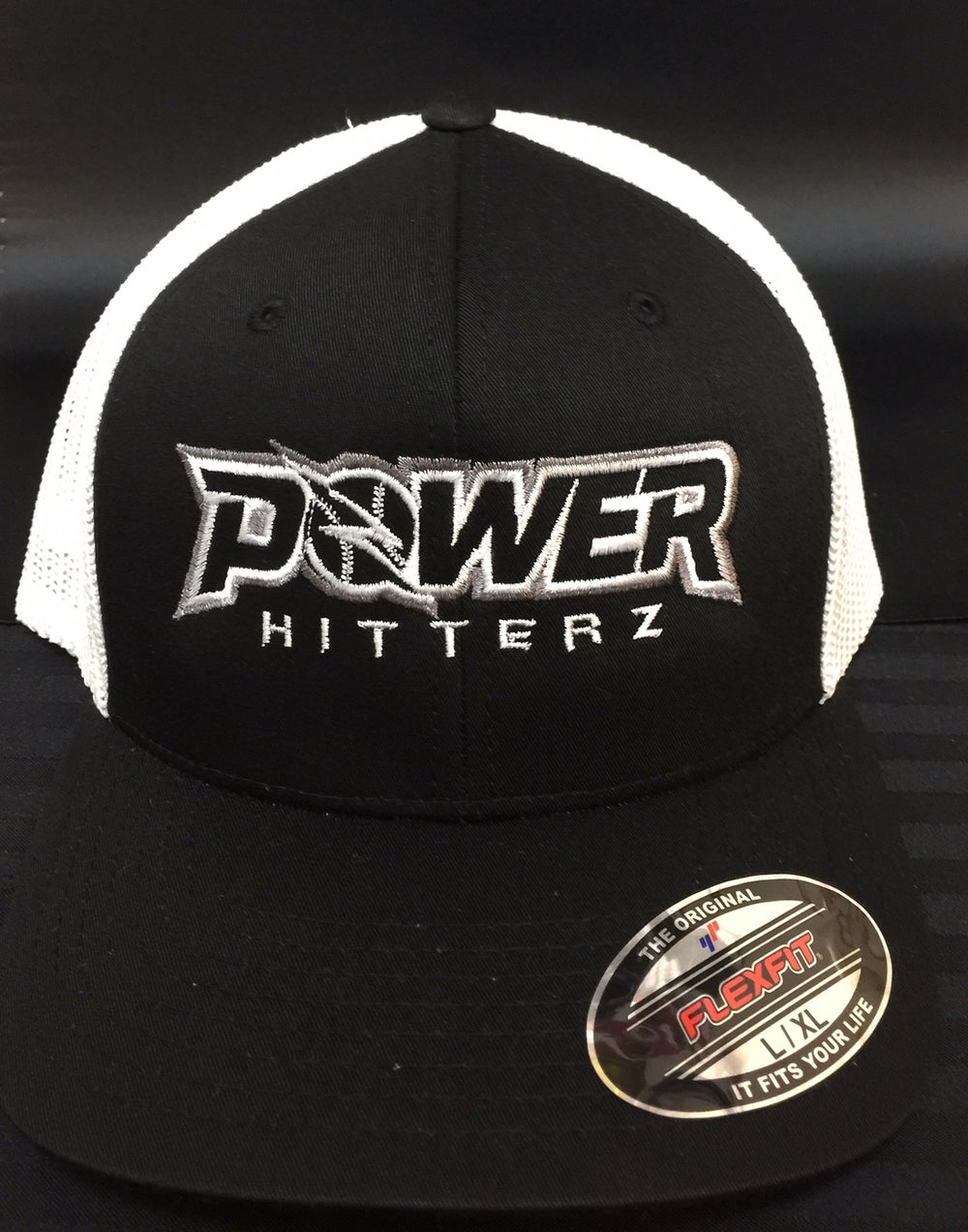 Image of PowerHitterz Hat Black/White - FLEXFIT