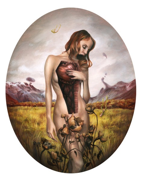"Image of ""Wilting Flowers"" limited edition giclee print"