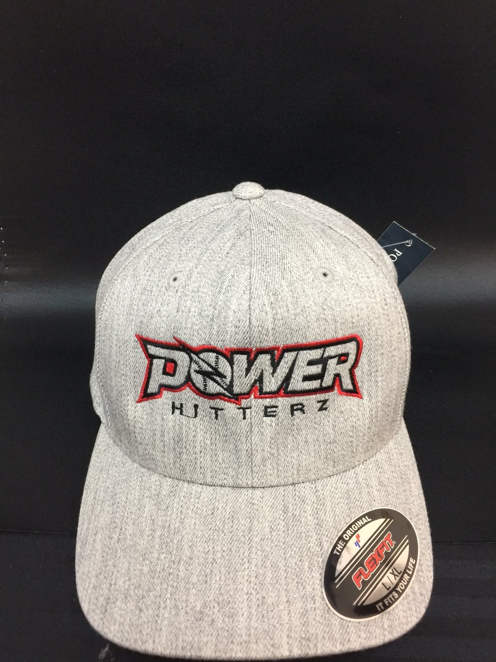 Image of PowerHitterz Hat Heather Grey - FLEXFIT