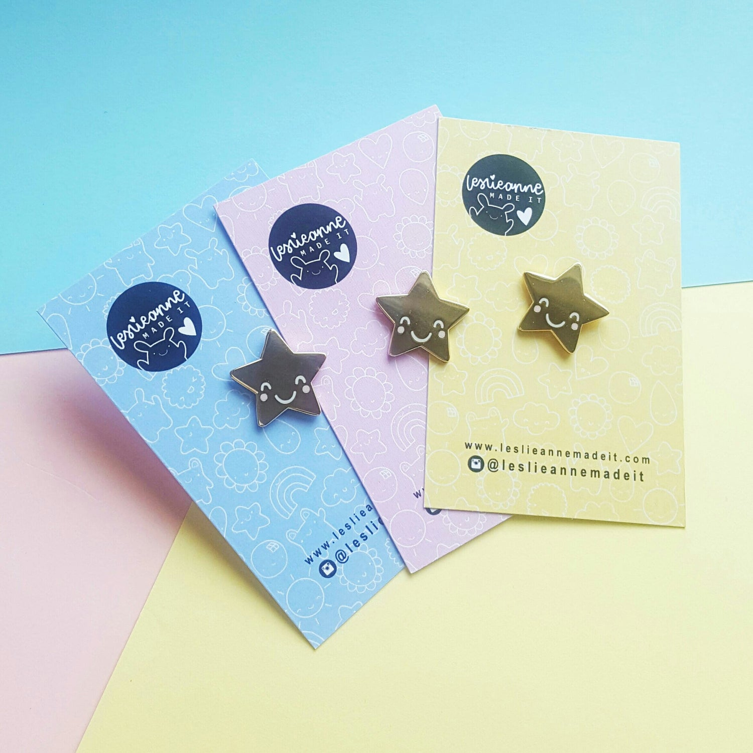 Image of Happy Little Gold Star Hard Enamel Pin