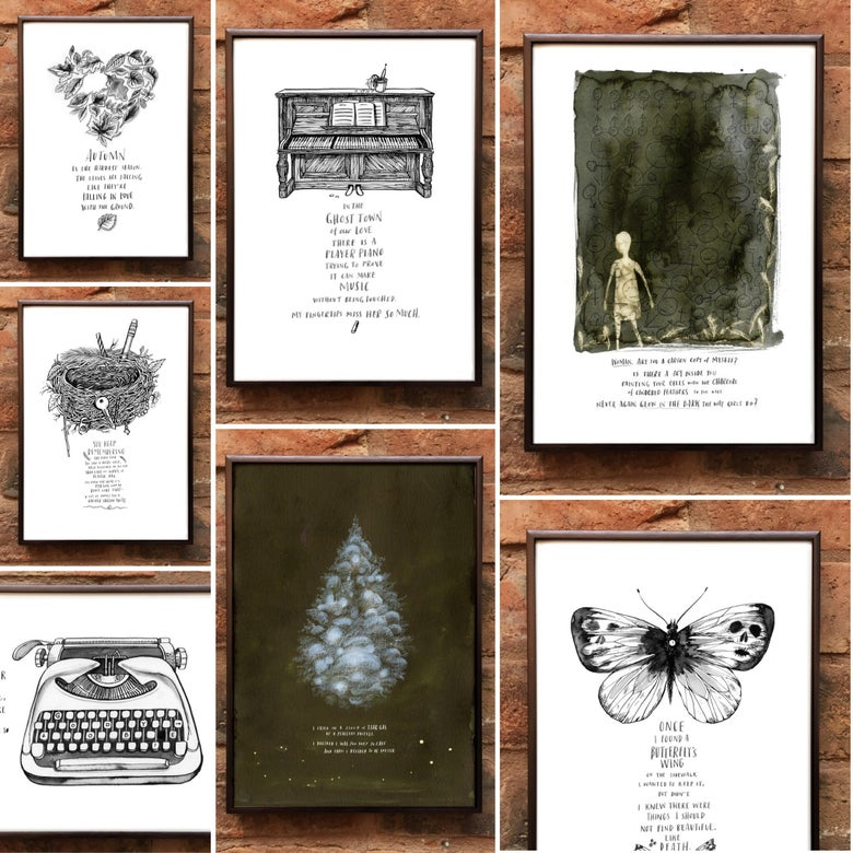Image of Andrea Gibson Prints: Set of 7 (Special Tour Price)