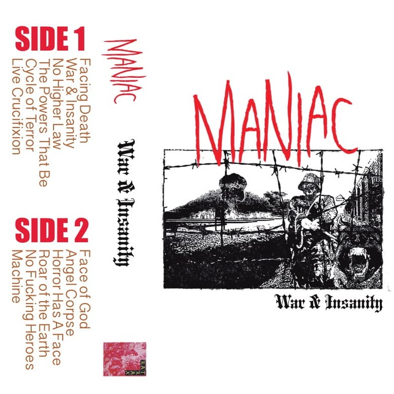"Image of Maniac - ""War & Insanity"" - CS LP"