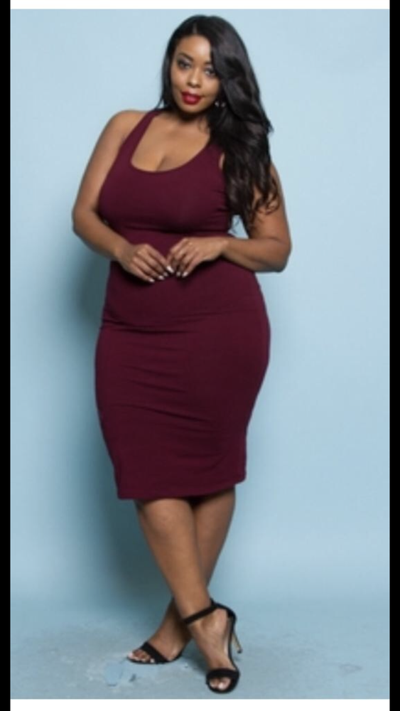 Image of Fitted tank top dress