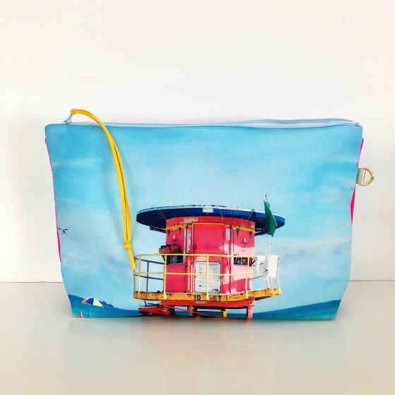 Image of 10th Street pink lifeguard XL pouch