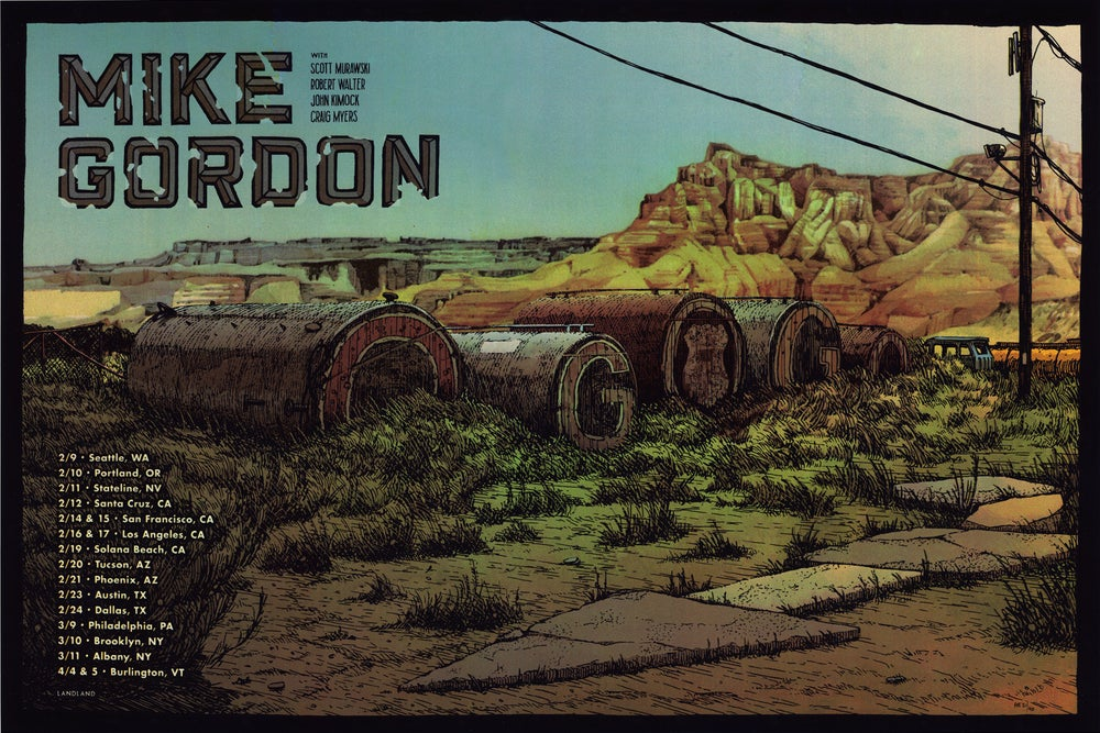 "Image of Mike Gordon (2018 Tour) • Limited Edition Official Poster (16"" x 24"")"