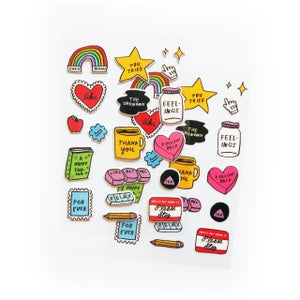 Image of Puffy Sticker Sheet (w/ Bonus Flat Sheet)
