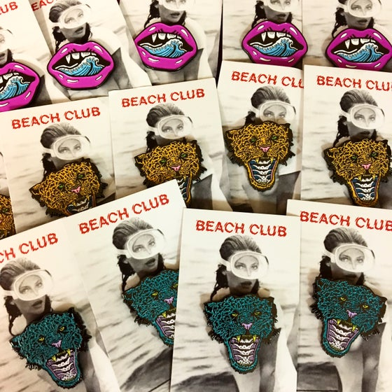 Image of EVIL X BEACH CLUB ENAMEL PIN