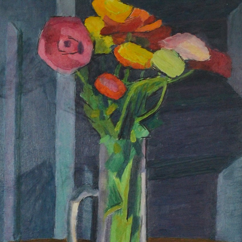 Image of 1956; Still Life with Anemones; Jacques Andre Duffour (1926-2016)