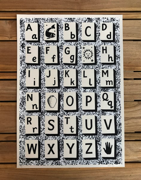 Image of Alphabet (Black, White and Grey)