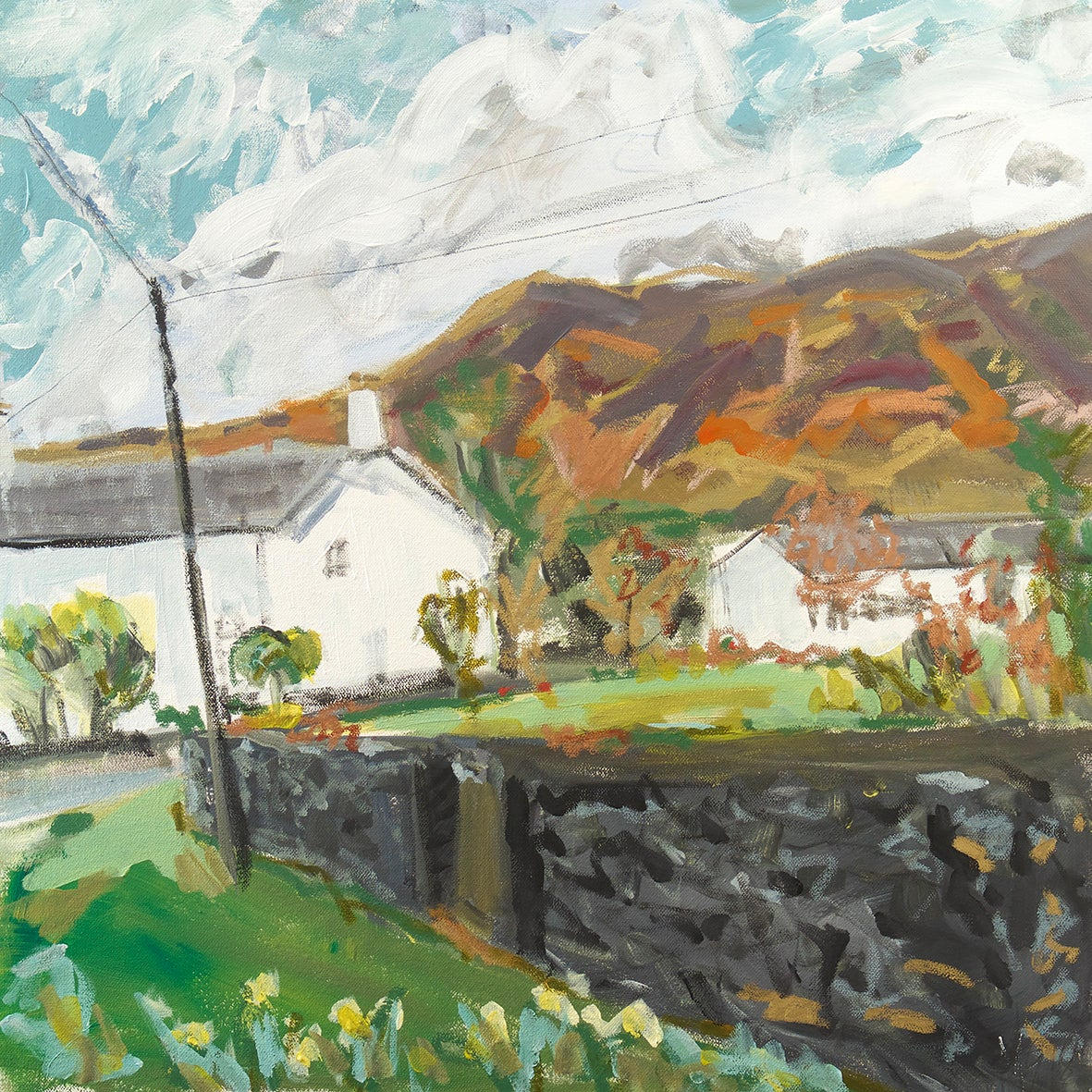 Image of Catbells from Little Town (Original Painting)