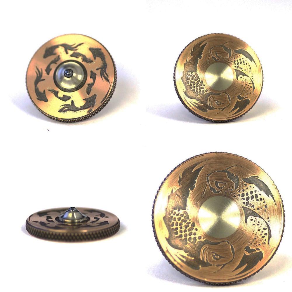 Image of XL Copper coin  Koi