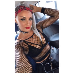 Image of Fishnet crop Top