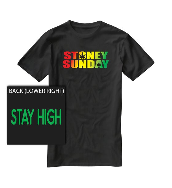 Image of preorder - RASTA Stoney Sunday HEMP Shirt 2.0