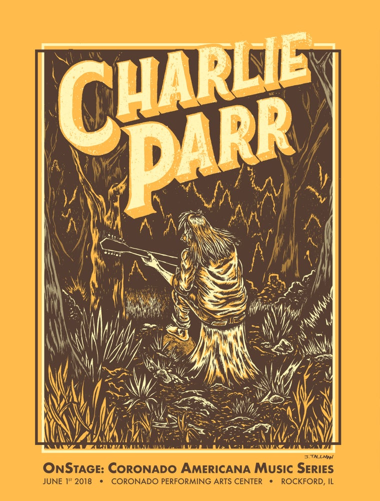 Image of Charlie Parr screen printed poster