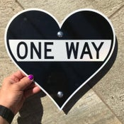 "Image of 12"" One Way Heart Sign (Signed and Numbered)"