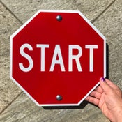 "Image of 12"" Start Sign (Signed and Numbered)"