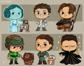 Image of Evolution of Princess Leia