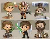 Image of Evolution of Luke Skywalker