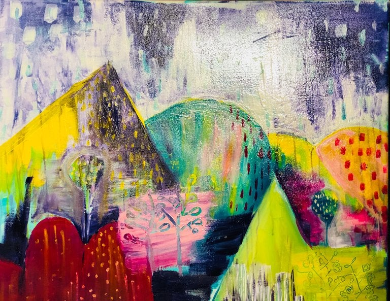Image of FAMILY POP UP PAINT NIGHT: ABSTRACT LANDSCAPE Saturday 10TH NOVEMBER