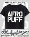 AFRO PUFF punky Crop Top Tee