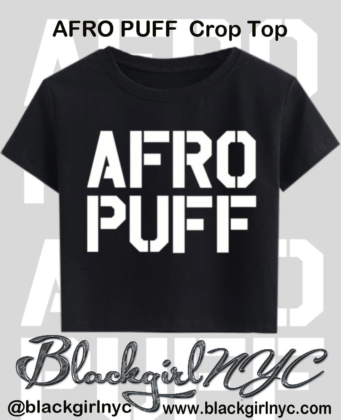 Image of AFRO PUFF punky Crop Top Tee