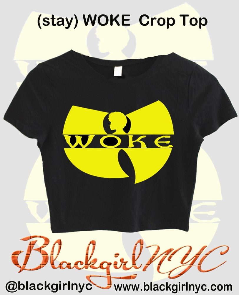 Image of (stay) WOKE Wu Thang Crop Top Tee