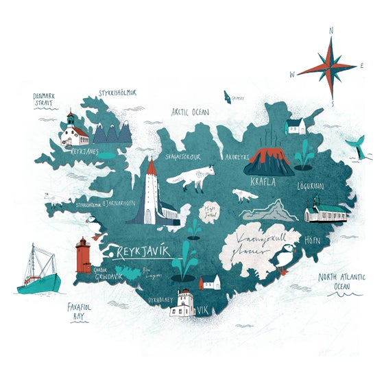 Image of Map of Iceland