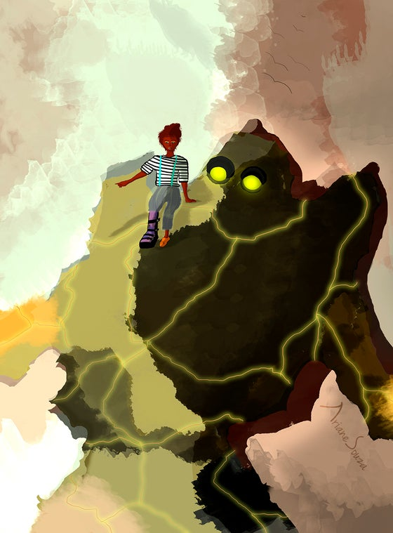 Image of The Girl and the monster