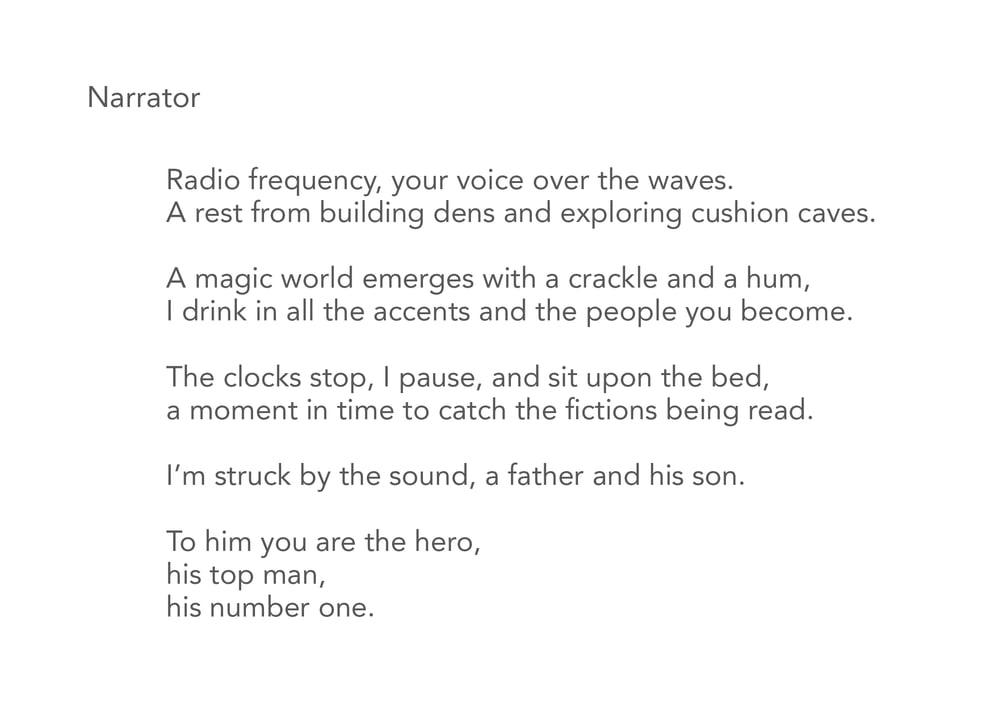 Image of Narrator - Poem Postcard (Medium - 7x5 size)