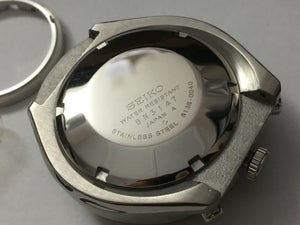 Image of NEW SEIKO BULL HEAD 6138-0040 GENTS COMPLETE WATCH CASE,BLUE/BLACK DIAL