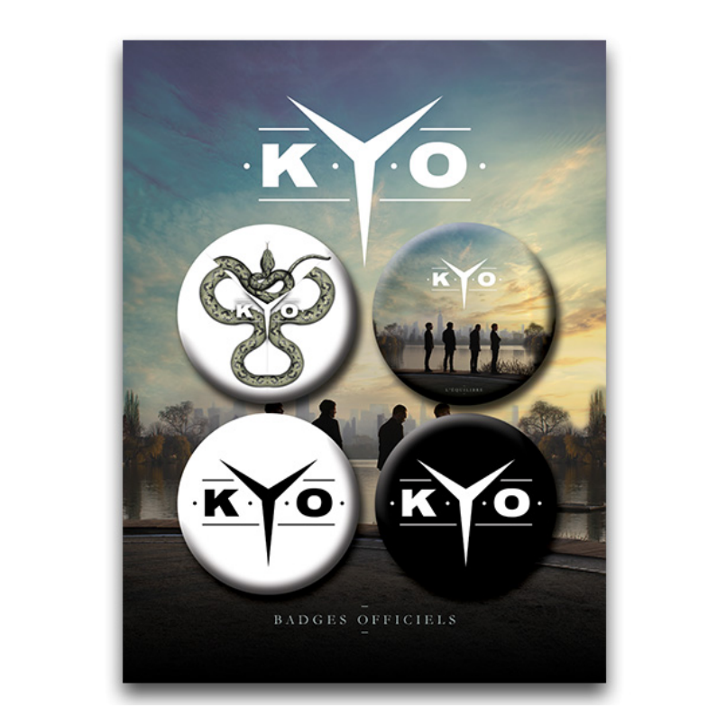 "Image of LOT DE 4 BADGES ""L'EQUILIBRE"" | KYO"