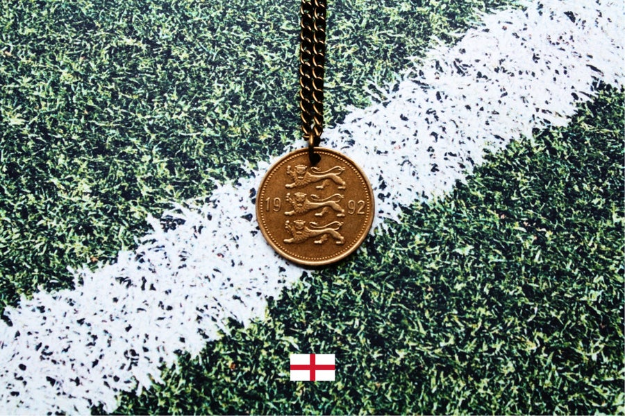 Image of England Three Lions Estonian 50 Senti Coin Necklace - FIFA World Cup 2018 Special [1/3]
