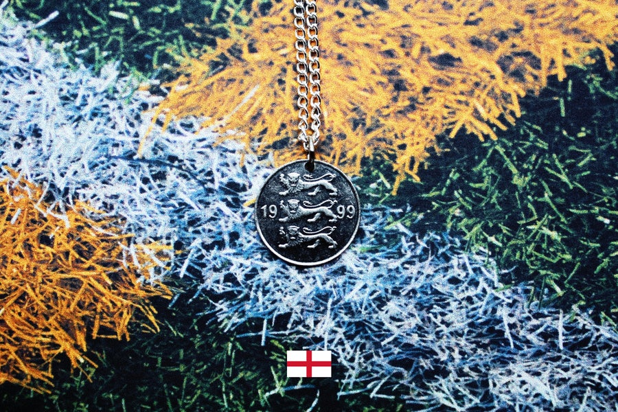 Image of England Three Lions Estonian 20 Senti Coin Necklace - FIFA World Cup 2018 Special [2/3]