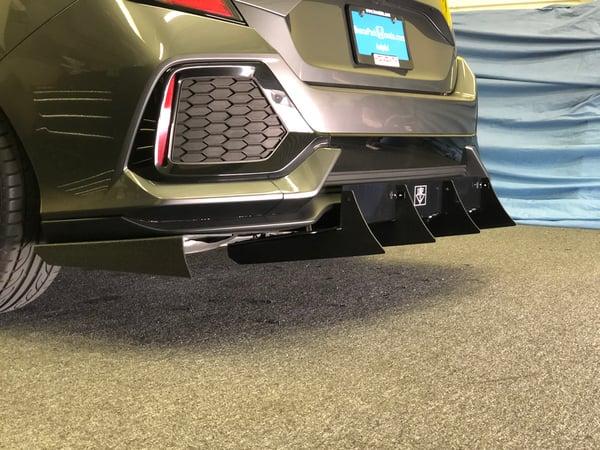 """Image of 2016 - 2019 Honda Civic (10th Gen) V2 """"NON SPORT"""" diffuser"""