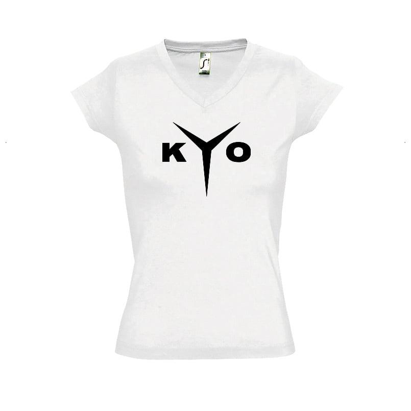 Image of TEE-SHIRT BLANC LOGO FEMME | KYO